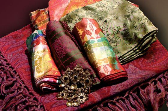 Almankås silketørkle sjal